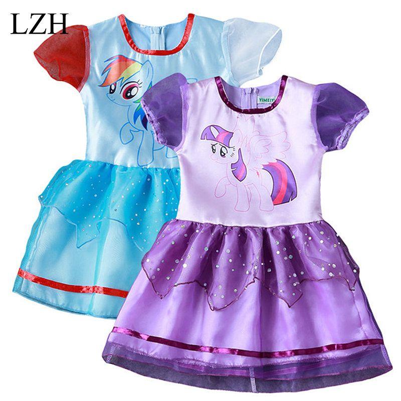 New Children cartoon Dress summer Girl Short sleeve lace Dresses girls princess dresses Kids Clothes https://t.co/yc6LxBInOK