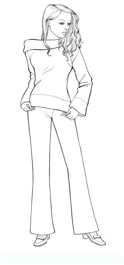 Fashion 4 Teens And Adults Coloring Pages With Images People