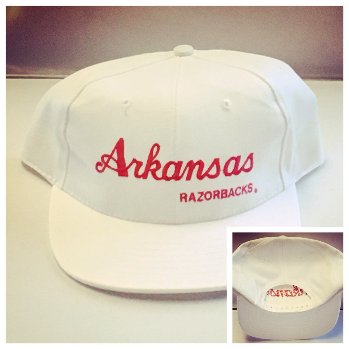 Arkansas Razorbacks Vintage Snapback Cap Mercari The