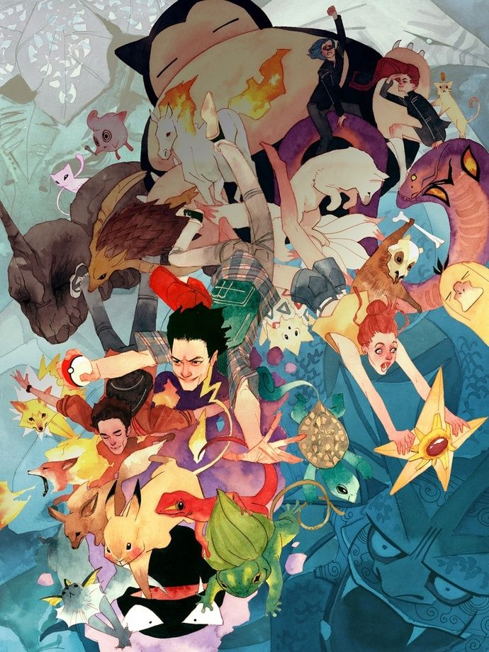 Pokemon, an art print by Kevin Wada - INPRNT