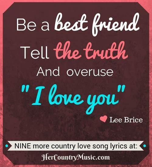 Ten Popular Country Love Song Lyrics