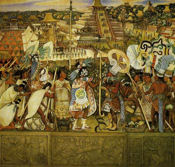 Murales Diego Rivera toltecas