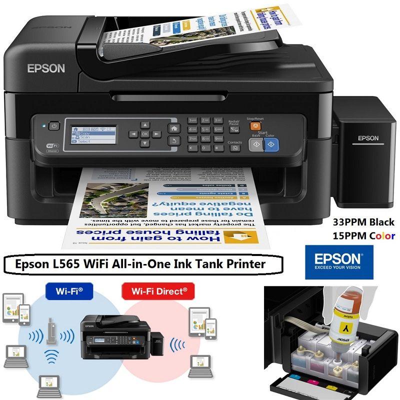 Epson L565 WiFi InkTank Printer, Print, Copy, Scan, Fax