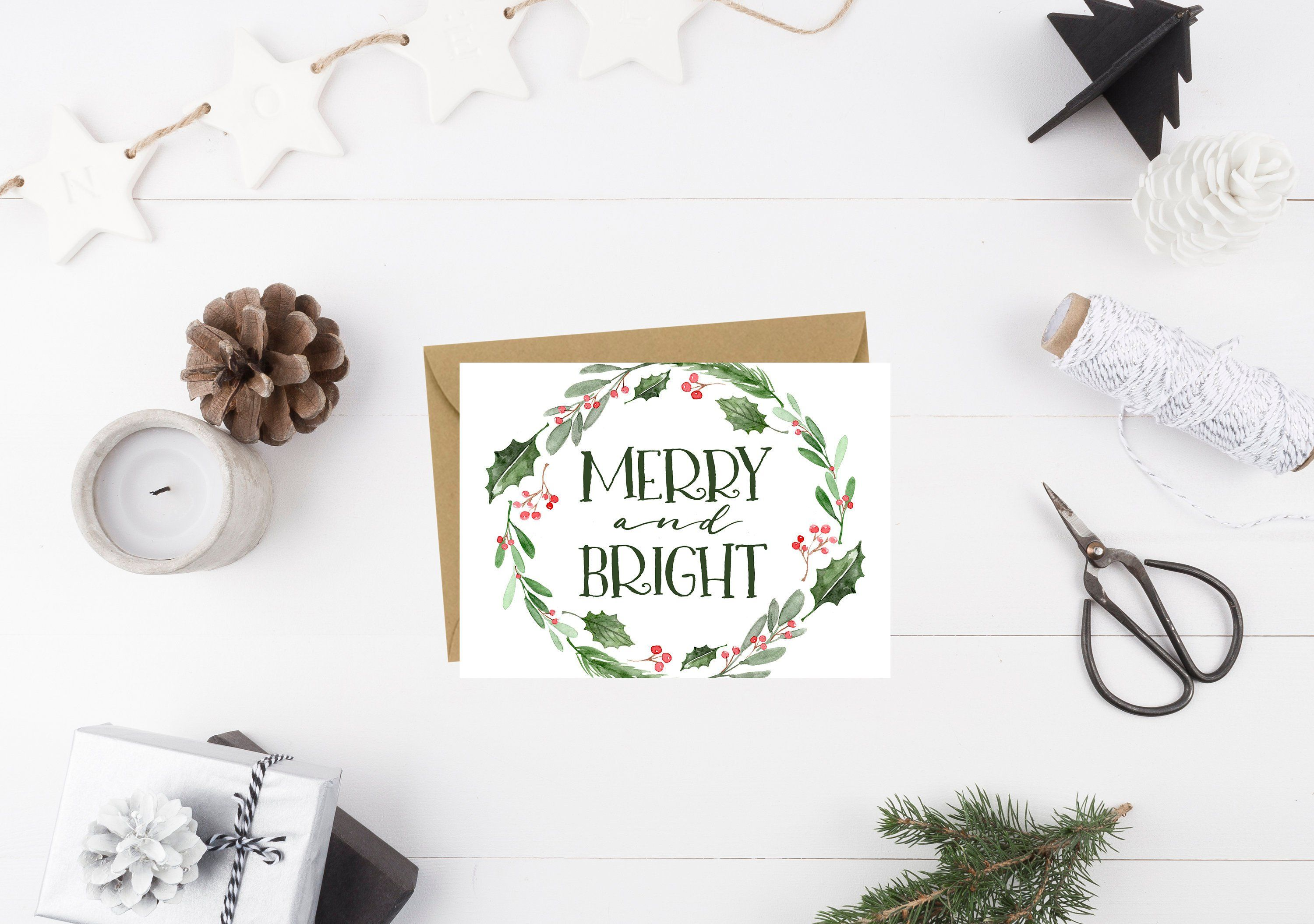 Merry Christmas Christmas Greeting Card Holiday Card Greeting