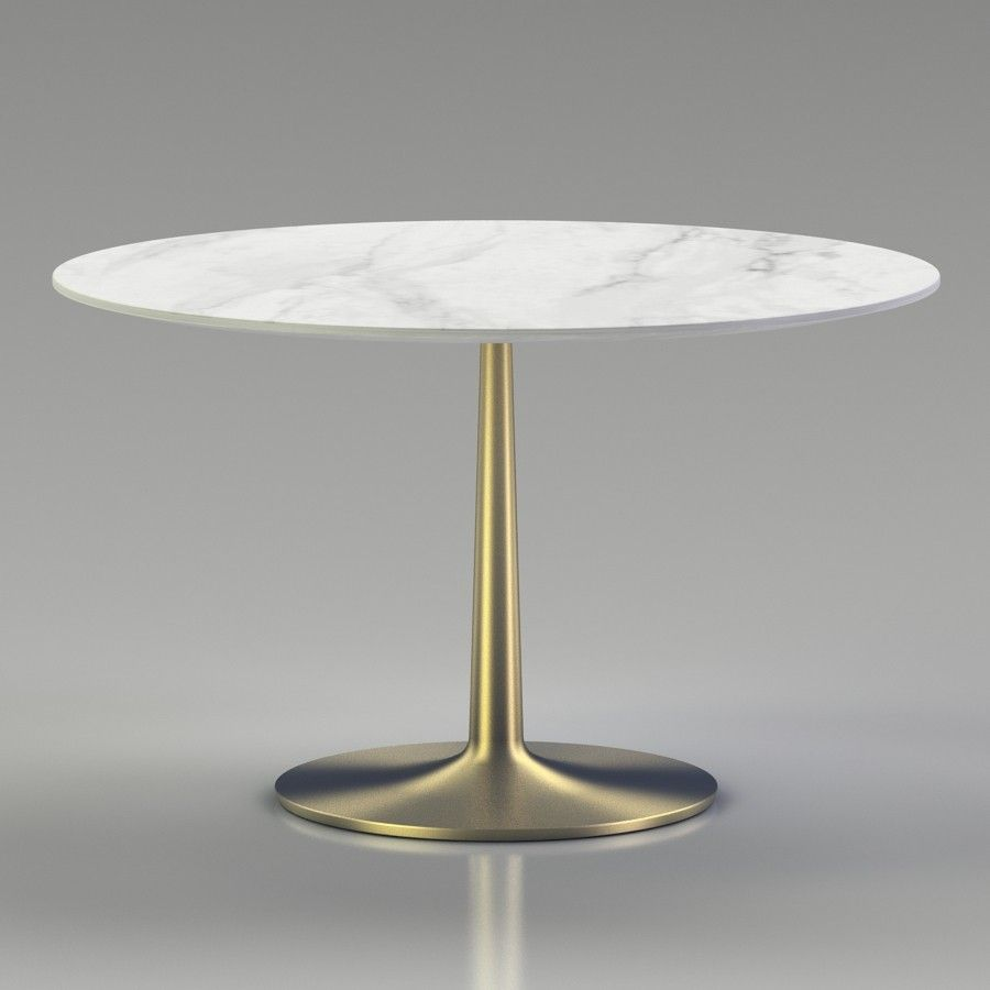 Crate And Barrel Nero 48 White Marble Dining Table 3d Model Files