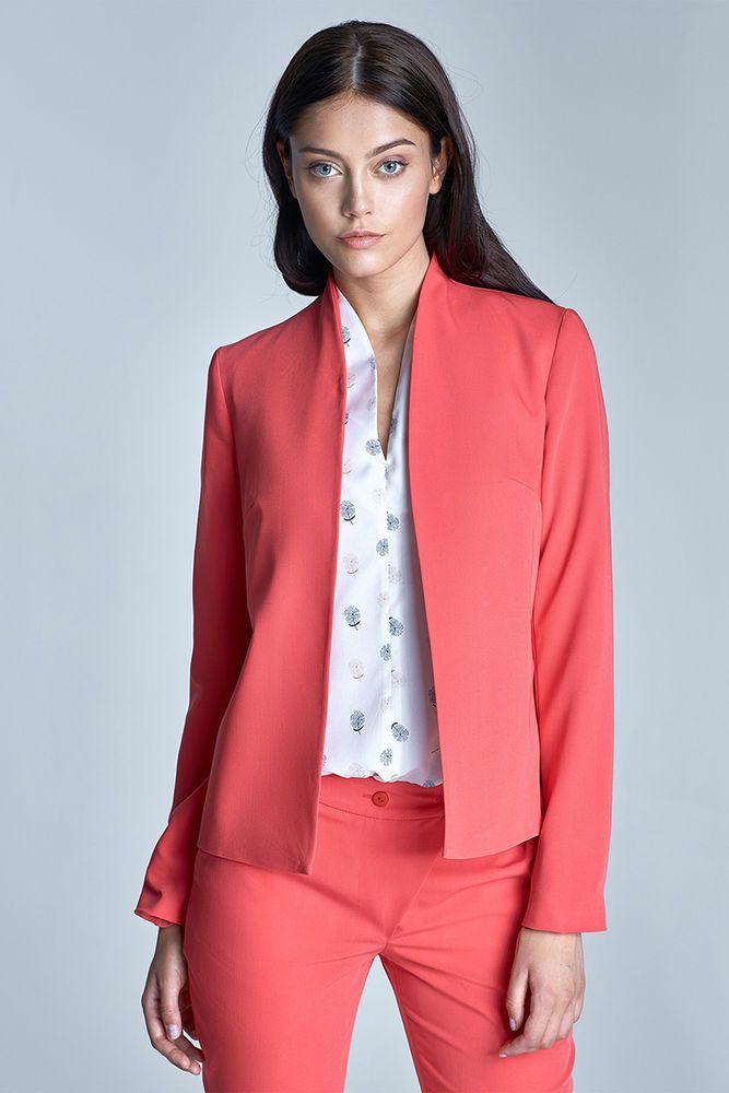 Veste cintree femme corail