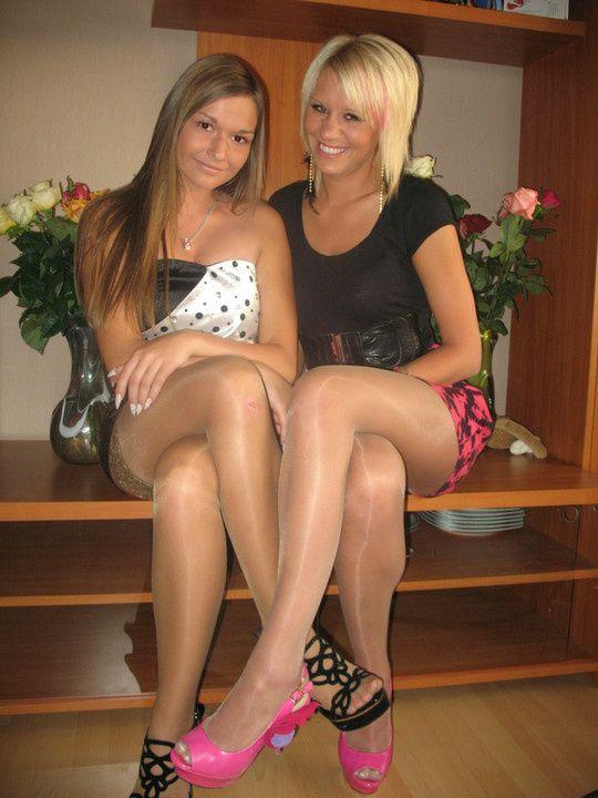 Two person pantyhose