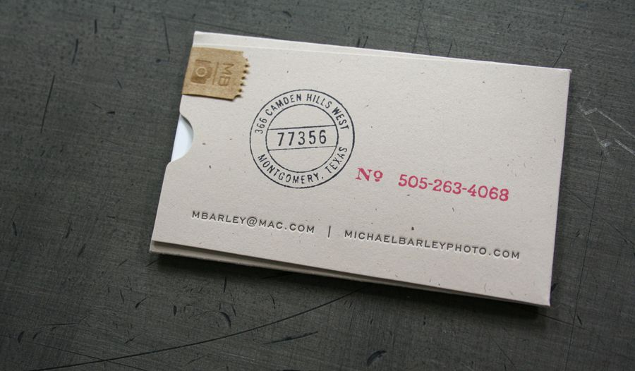 Business Card Sleeve Seal
