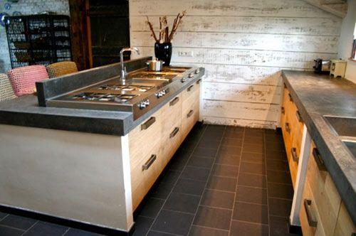 Houten Keuken Beton : Mooie houten keuken met betonnen blad google zoeken kitchen