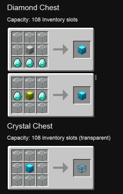 Iron Chests Mod 1 13 2 1 12 2 Better Than Vanilla Chests 9minecraft Net Mod Crafting Recipes Iron