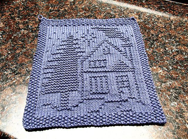 Little House Wash Cloth/Pot Holder - KNITTING | Crafts: Needlecrafts ...