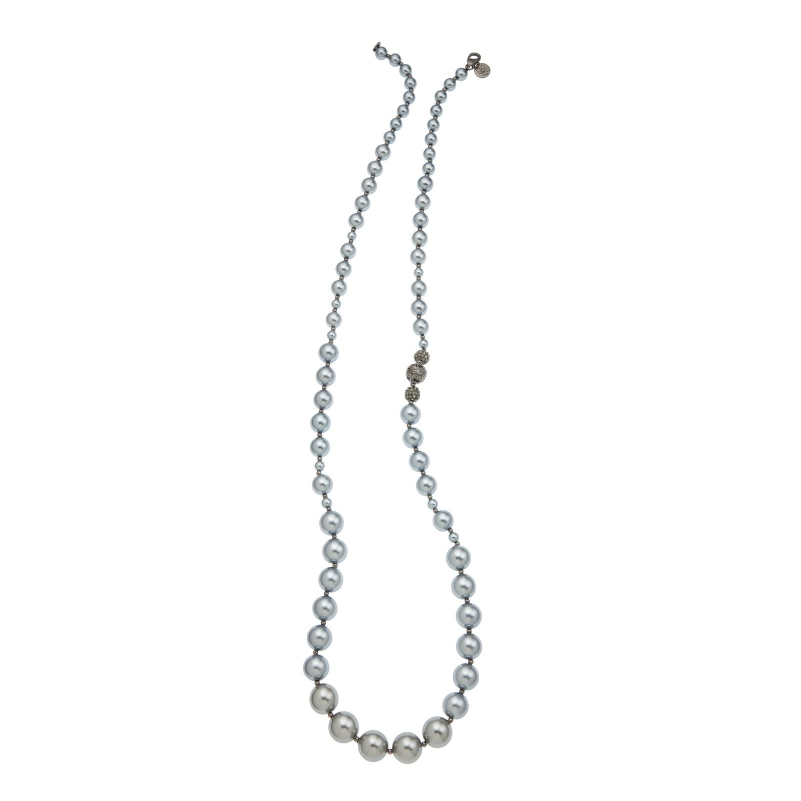 "Pearl-Black Grace Adele 36"" Necklace"