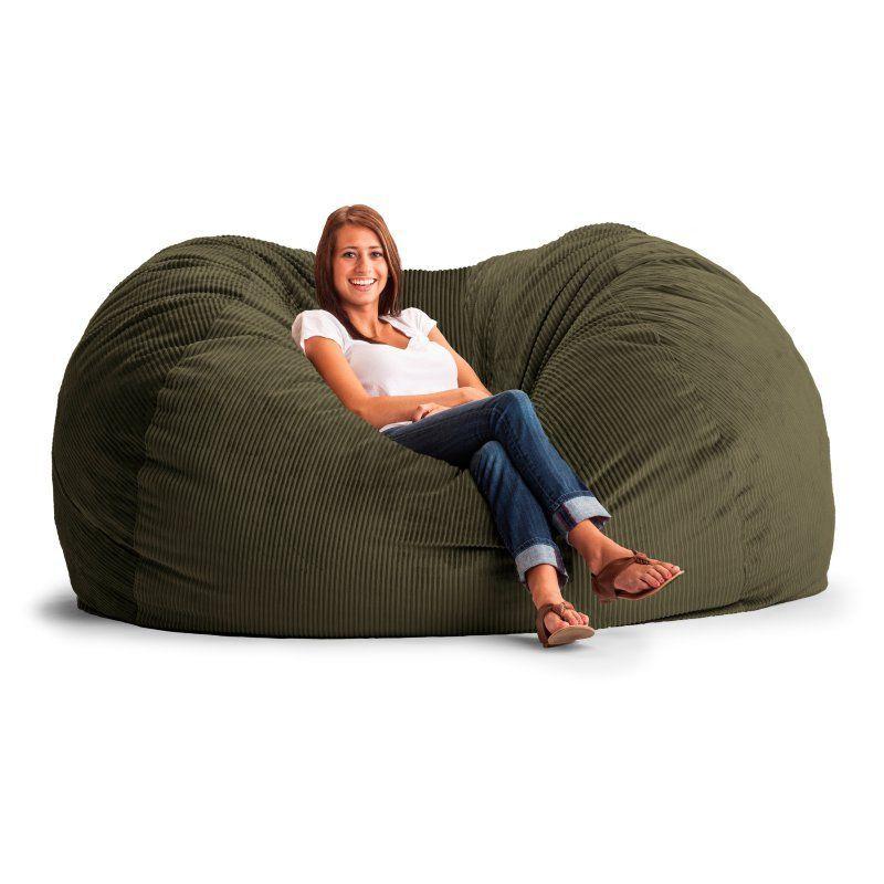 Fuf 7 Ft Xxl Wide Wale Corduroy Bean Bag Sofa Adult Bean Bag Chair