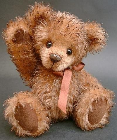 Handmade artist bear crafted from spiky mohair - by Bears-a-Bruin! - Clara