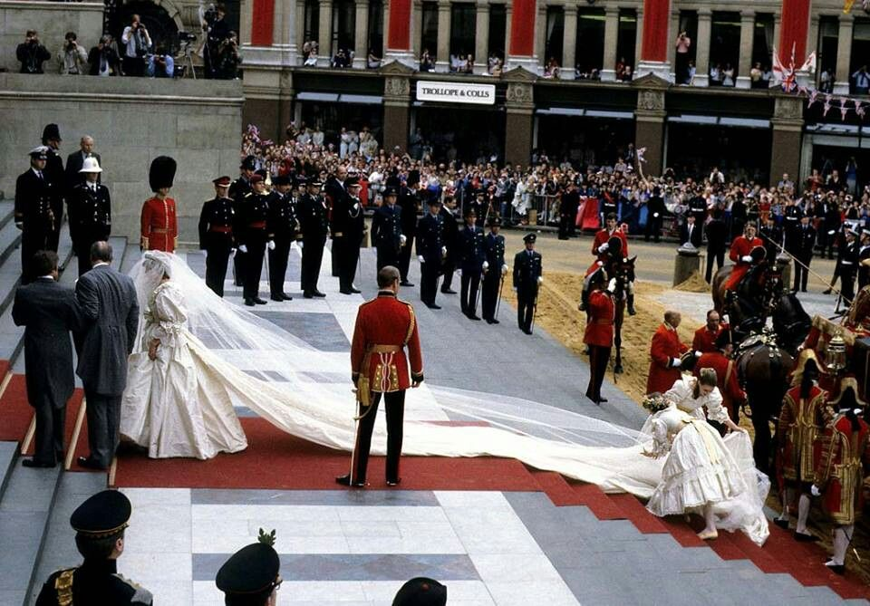July 29, 1981...Diana's train was 25 feet long. (With