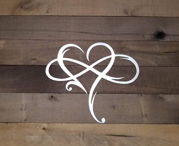 3b83a84def923 Infinity Sign Metal Wall Art Metal Infinity Symbol and Heart Rustic ...