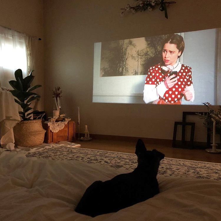#projector #for #living #room #instead #of #tv