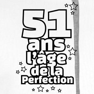 e774a5dea8991 51 ans l'âge de la perfection Tee shirts - Sweat-shirt à capuche Premium  pour hommes