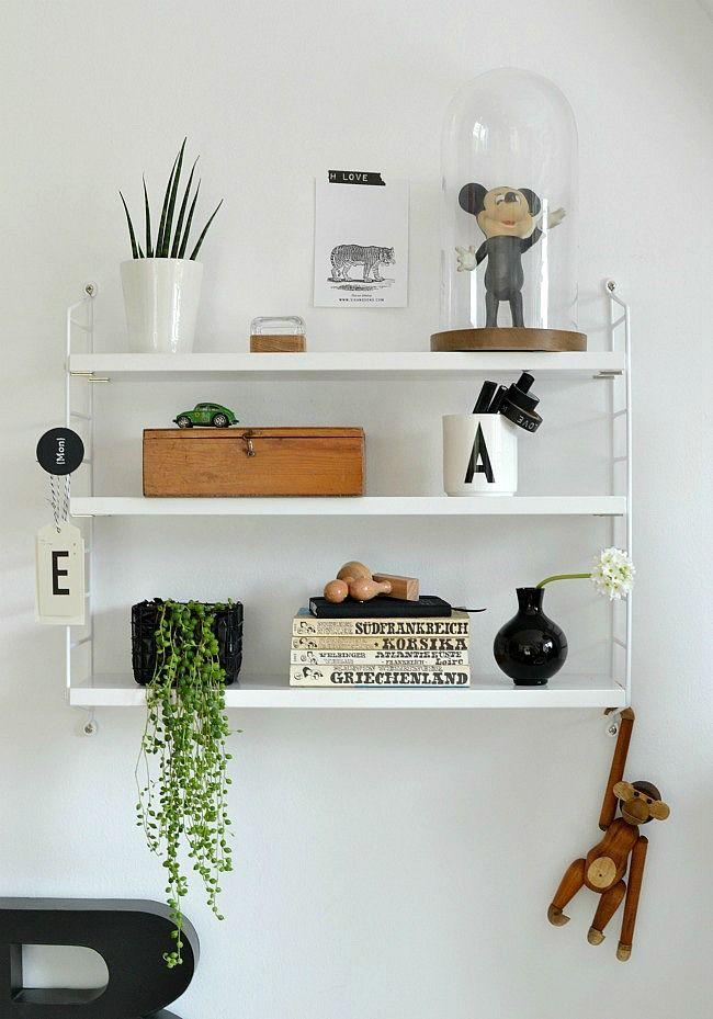 l ssig dekoriertes string regal wohnidee interior. Black Bedroom Furniture Sets. Home Design Ideas