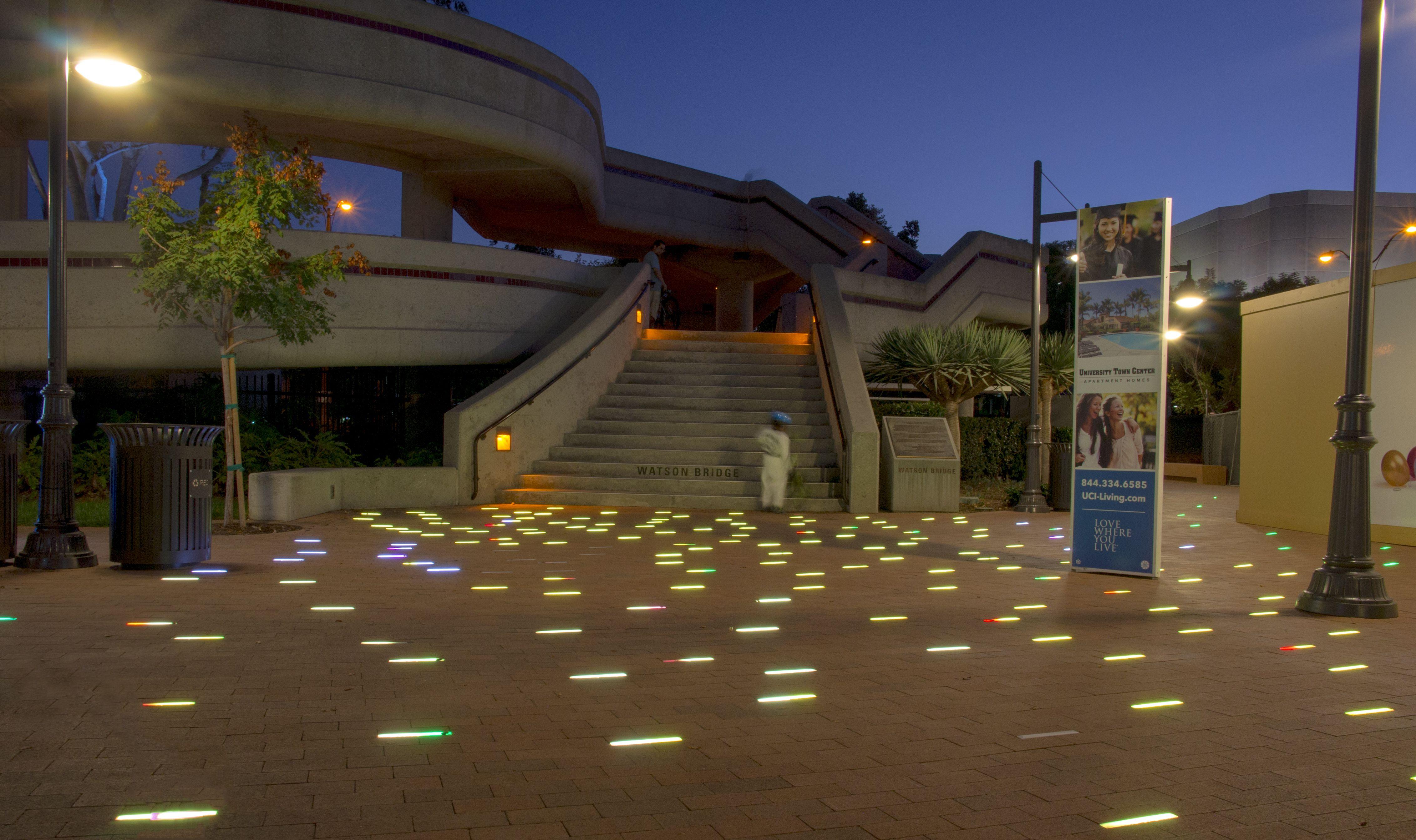 University Center Interactive Led Lighting Pavement By