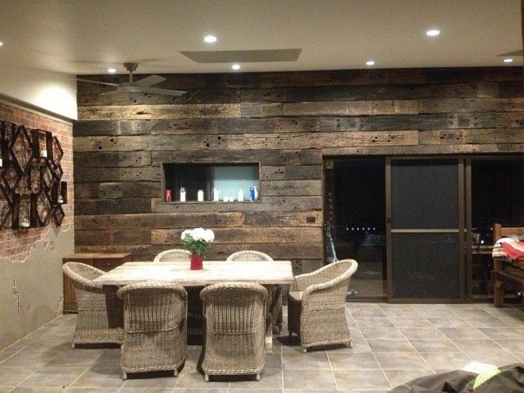 Revestimiento de paredes interiores textura madera - Revestimiento madera paredes ...