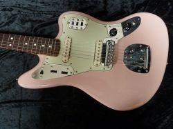 nos usa fender jaguar electric guitar thinskin shell pink matching headstock guitars. Black Bedroom Furniture Sets. Home Design Ideas