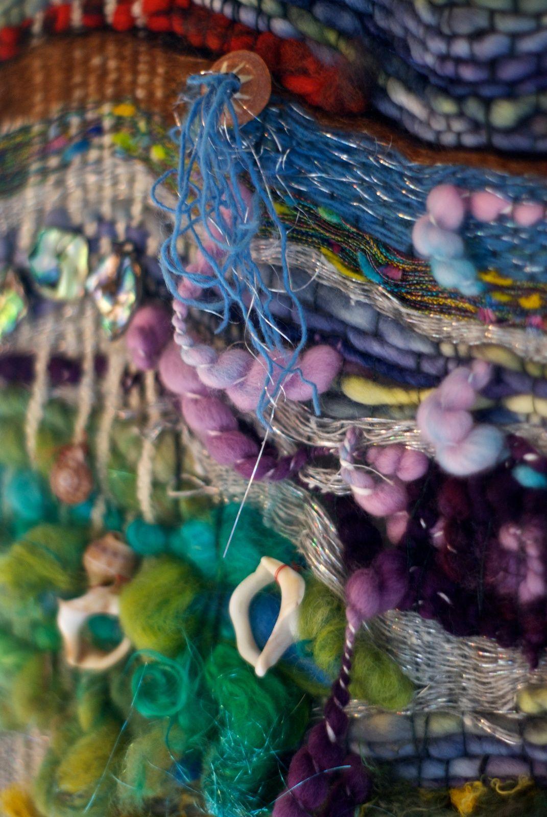 free form weaving  WoolWench Freeform Weaving | Loom weaving, Weaving textiles ...