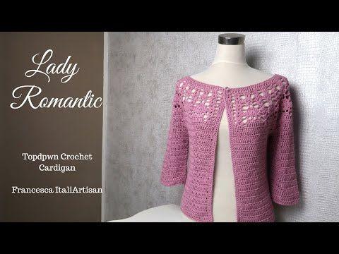 Lady Romantic Crochet Cardigan Cardigan Topdown Alluncinetto