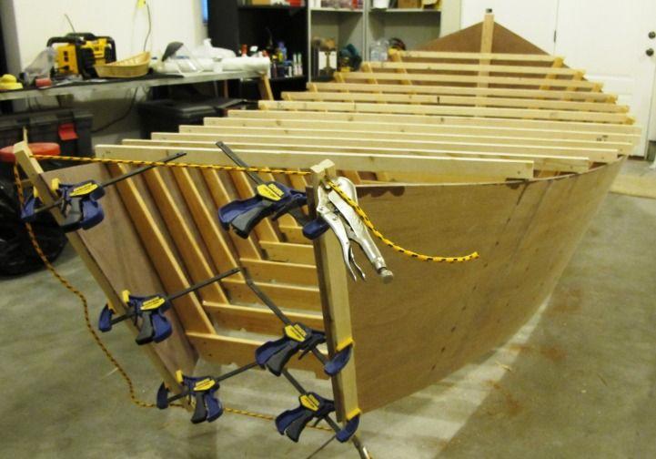 Guy's Wooden Drift Boat Project - Wooden Boat People   Driftboat Research   Wooden boats, Boat ...