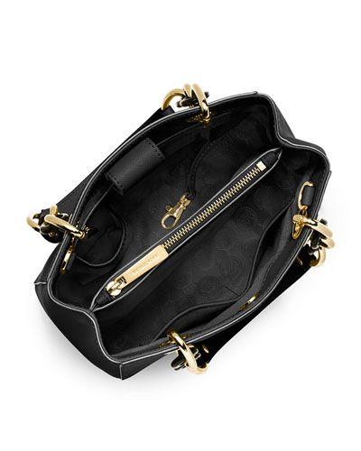f87032591729 V2HE3 MICHAEL Michael Kors Cynthia Small Saffiano Satchel Bag