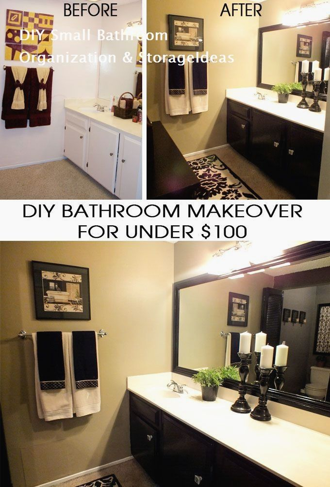 DIY Small Bathroom Organization and Storage Ideas On a Budget