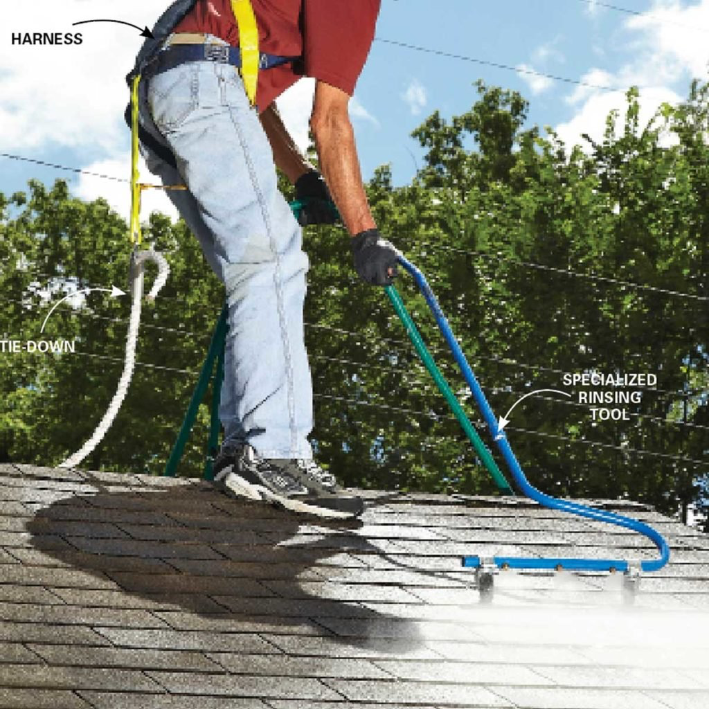 How To Clean Roof Stains Downspout Roof Roof Cleaning