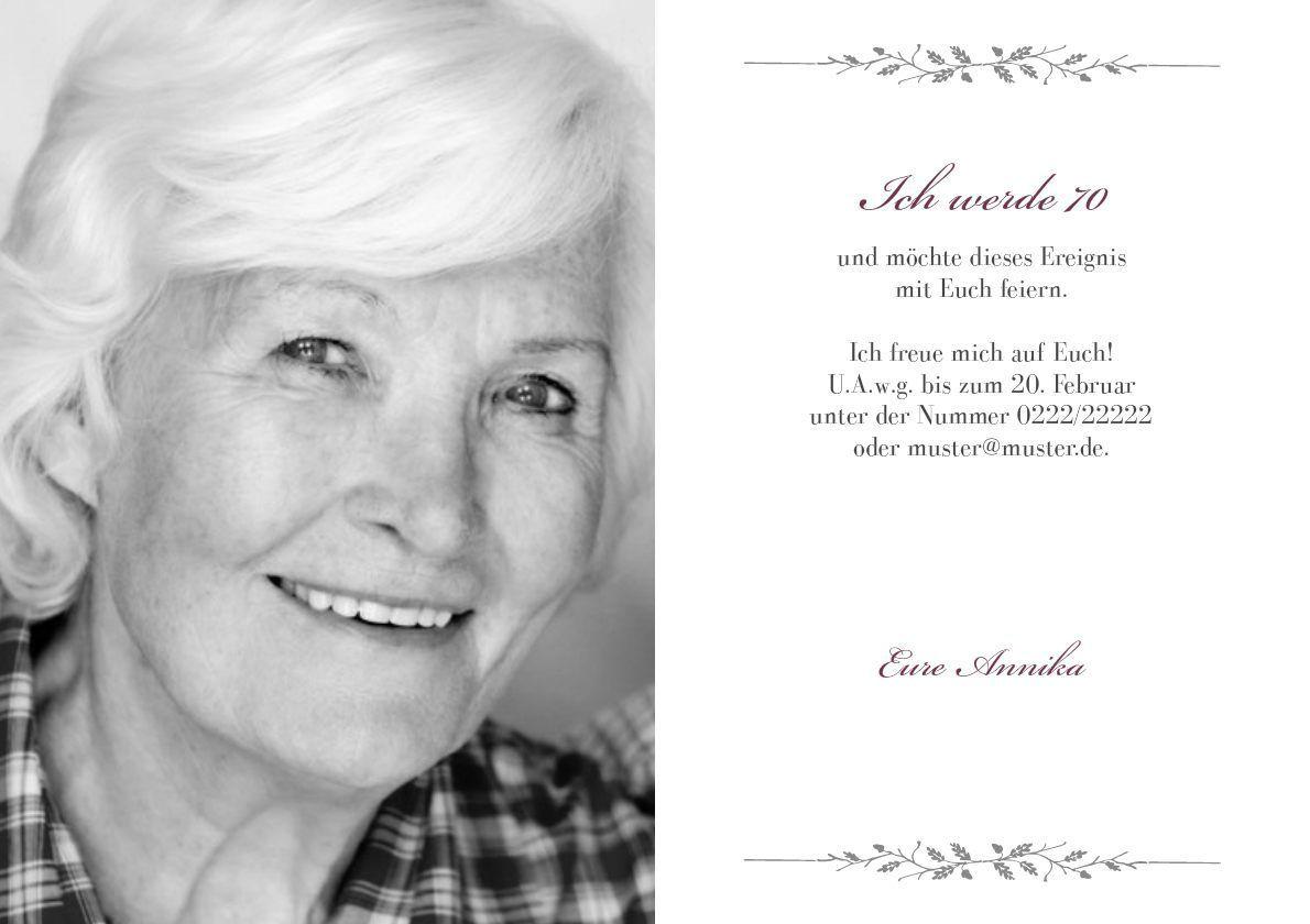Einladungen 70 Geburtstag Vorlagen Kostenlos Einladung