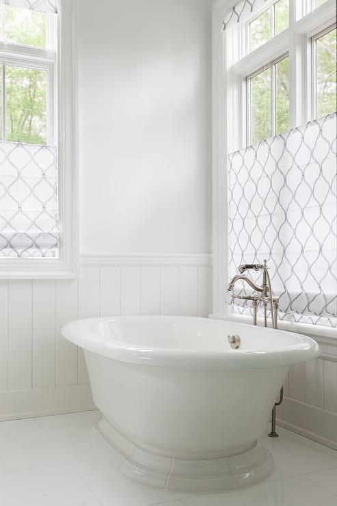 Bathroom Window Treatments Over Tub Master Bath Curtains