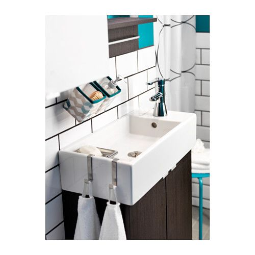 lill ngen waschkommode 2 t ren schwarzbraun 60x27x93 cm ikea bathroom utility room. Black Bedroom Furniture Sets. Home Design Ideas
