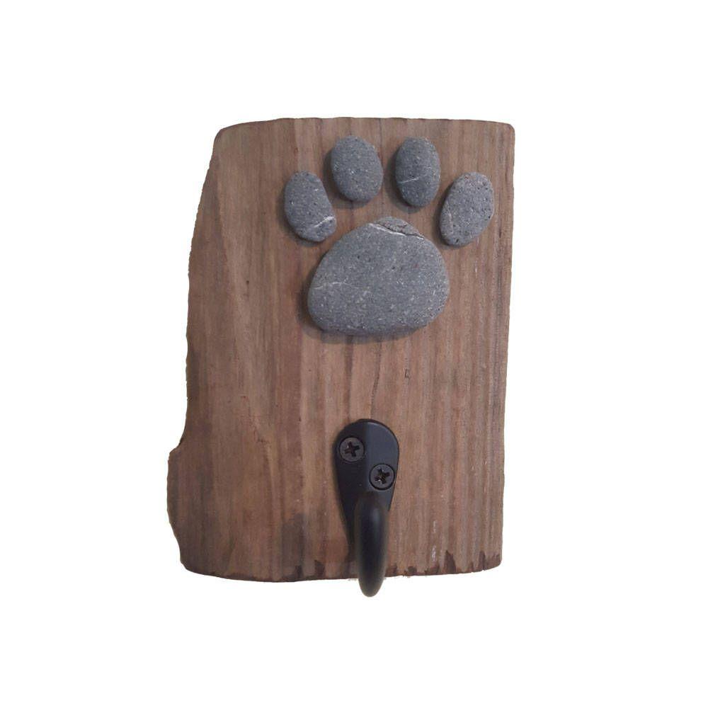 Driftwood Dog Paw Hook Dog Leash Hook