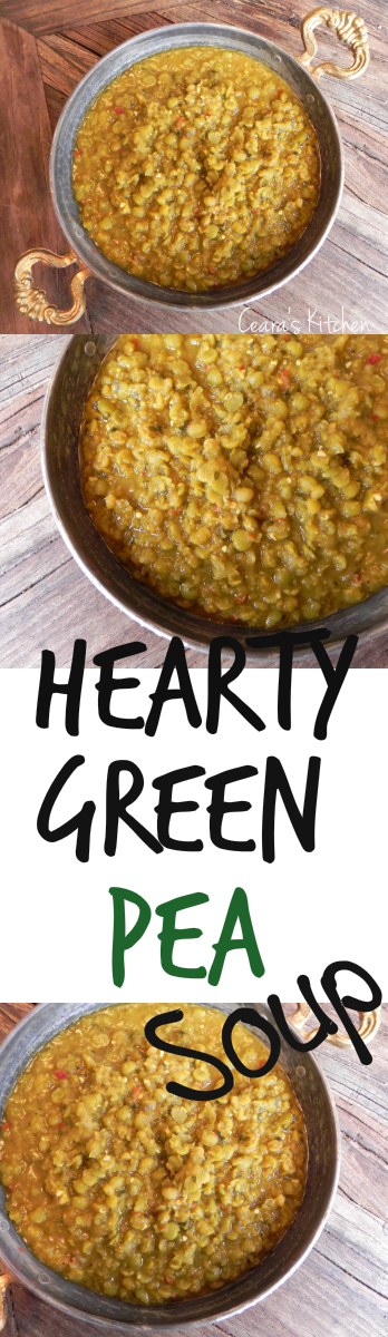 A cozy and hearty Green Pea Soup that comes together in a cinch! This Green Pea Soup is #HEALTHY naturally #VEGAN + #GLUTENFREE - Ceara's Kitchen