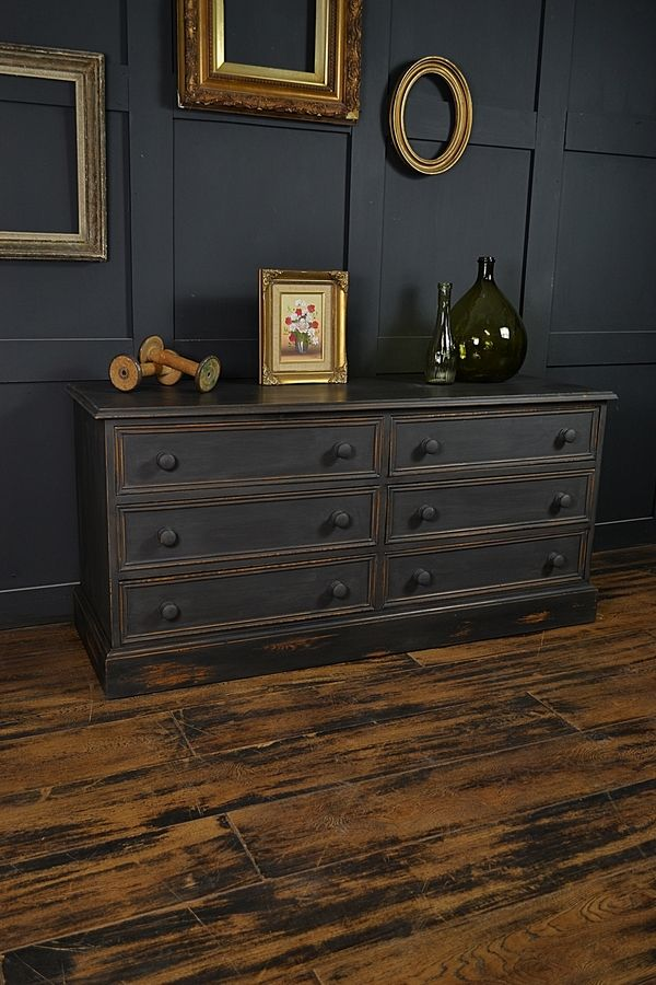 black low level shabby chic chest of drawers artwork paint rh pinterest com shabby chic black chairs shabby chic black dining chairs