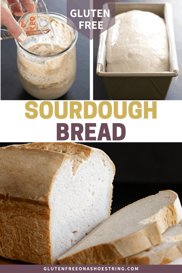 This flavorful loaf of gluten free sourdough bread is made with the simplest wild yeast sourdough starter. No commercial yeast at all!