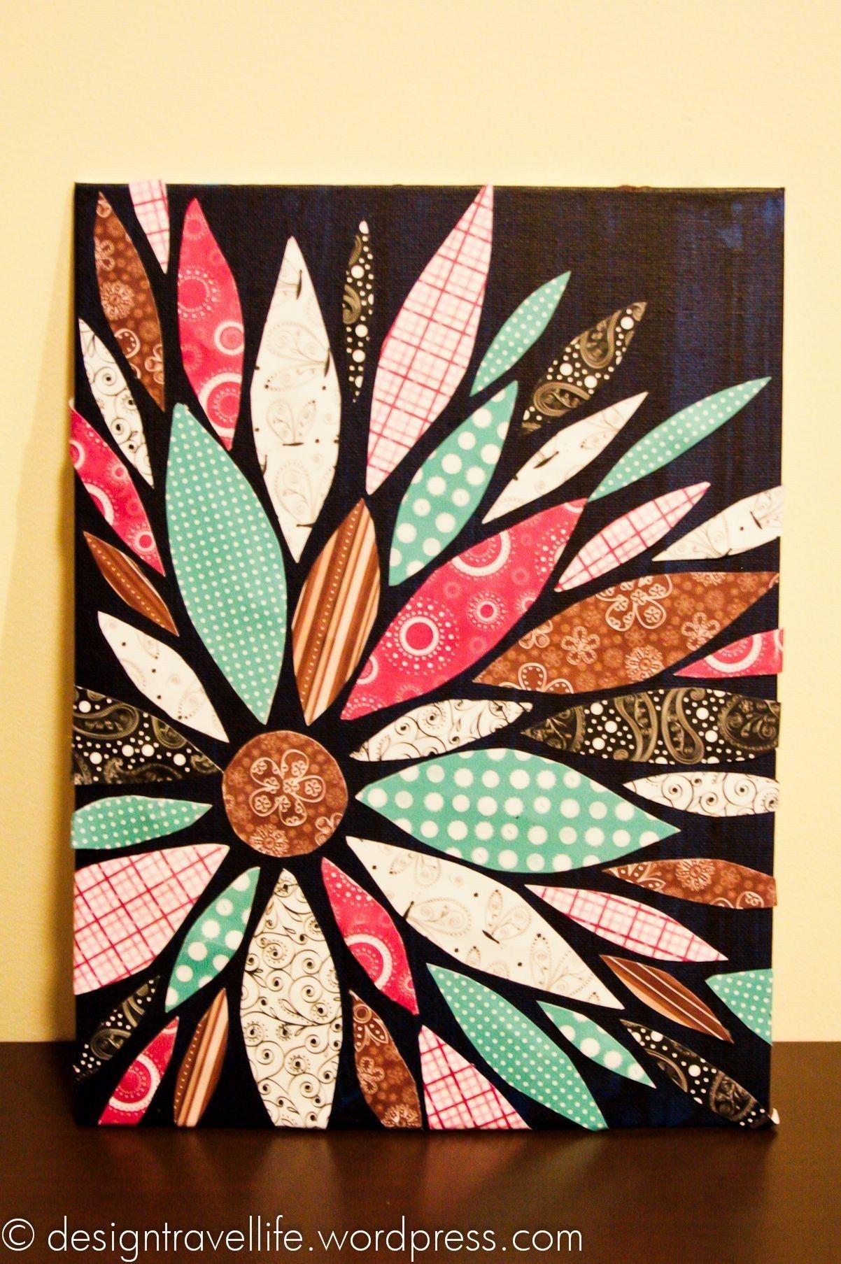 Diy Wall Art W Sbook Paper