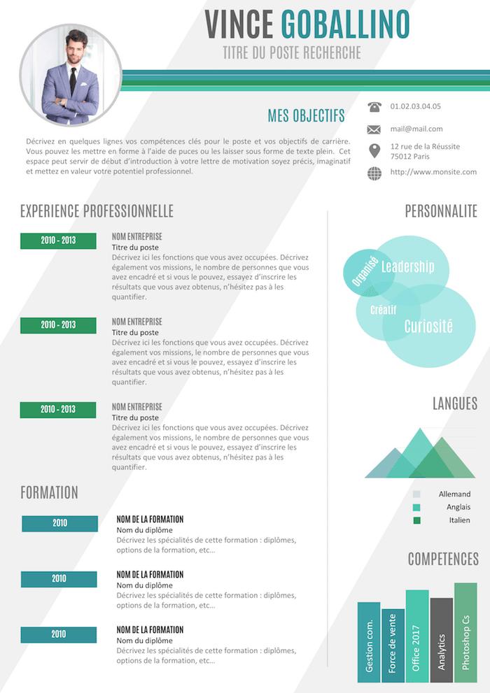 CV à personnaliser Modele de cv original, Exemple cv et
