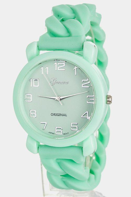 Mint Geneva Watch