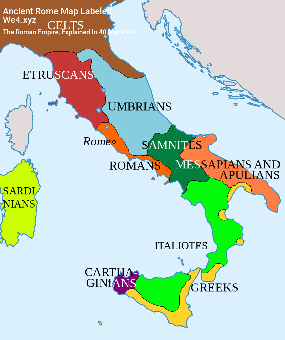 Labeled Basic Ancient Rome Map