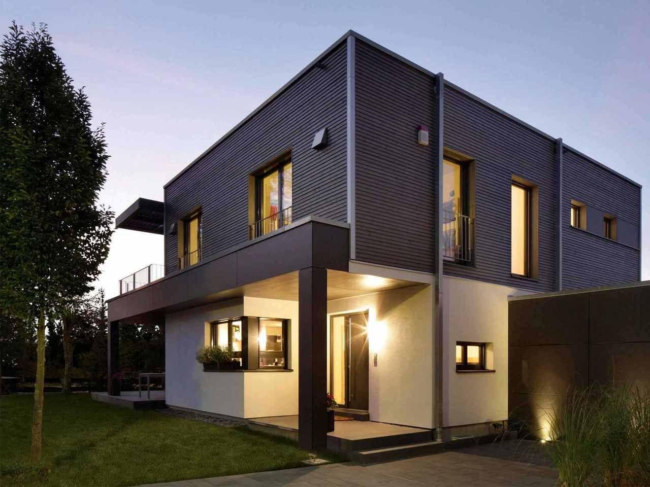 Doppelhaus Nilles Baufritz Baufritz, Moderne