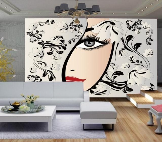 3d Photo Wallpaper 3d Beauty Salon Salon Wallpaper Textured Wallpaper Salon Wall Art