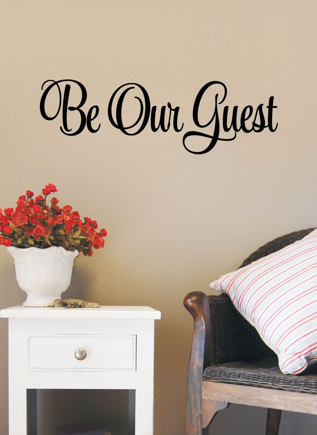 Be Our Guest Decal Decor Wall Art Family Quote Vinyl Decals