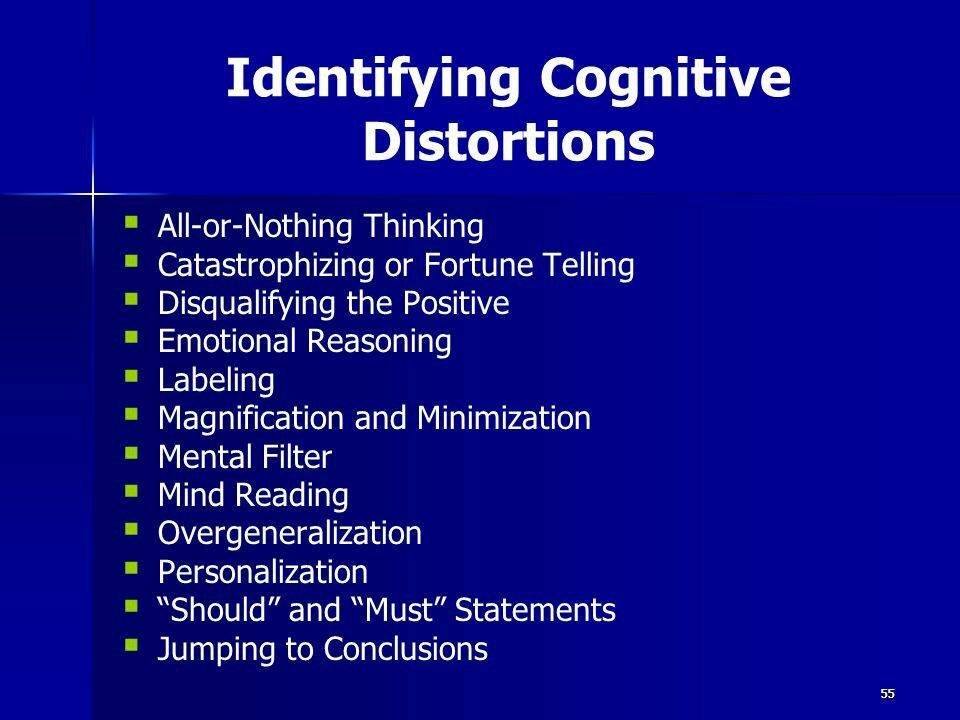 Cognitive distortion is common in C-PTSD.