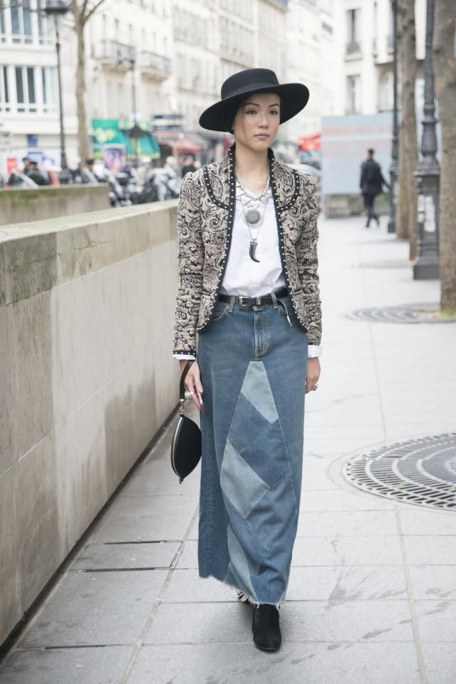Street Style Inspiration - How to Wear a Denim Skirt | Tweed ...