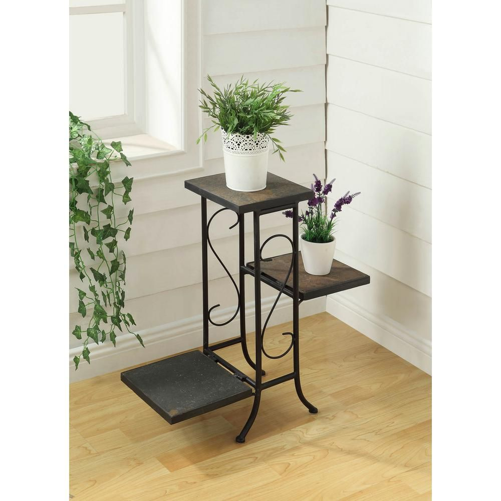 4d Concepts Black Indoor Plant Stand 601608 The Home Depot