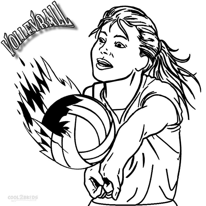 Volleyball Coloring Pages With Images Sports Coloring Pages